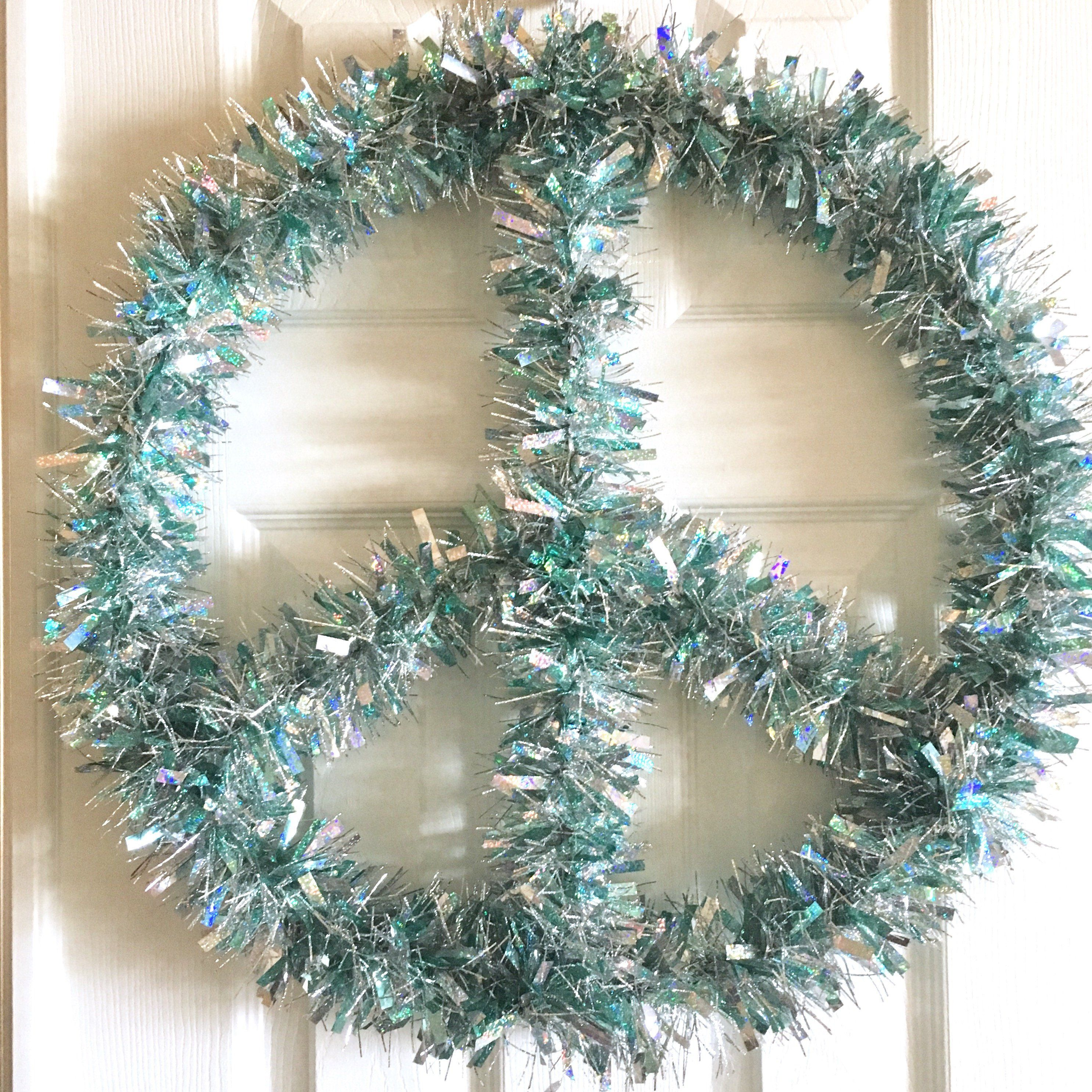 Peace Sign Wreath  Modern Wreath Modern Christmas Wreath Tinsel Wreath Minimalist Wreath Boho Decor Boho Wreath Christmas Photo Prop By Sunshineskystudio