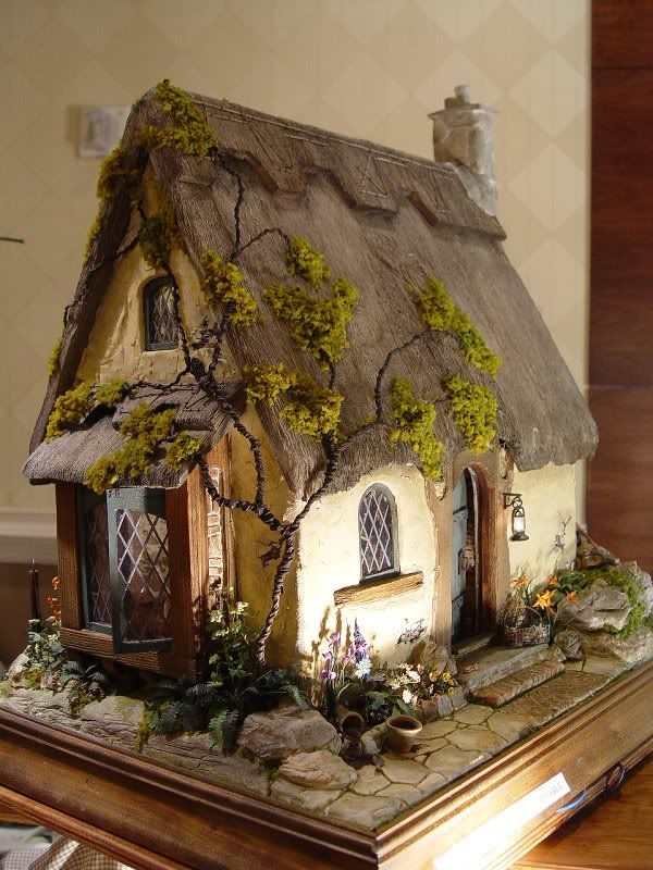 Dollhouse Miniatures Thatched Roof Dollhouse Share