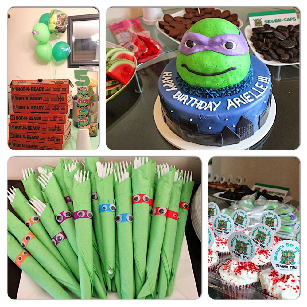Pin By Eli C On Kids Birthday Party Themes Ninja Turtles Birthday Party Tmnt Birthday Tmnt Birthday Party Ideas