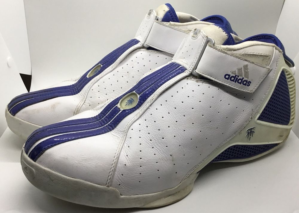 d6558ac4968f Adidas T-Mac 4.5 Tracy McGrady Size 13 White Blue  fashion  clothing  shoes   accessories  mensshoes  athleticshoes (ebay link)