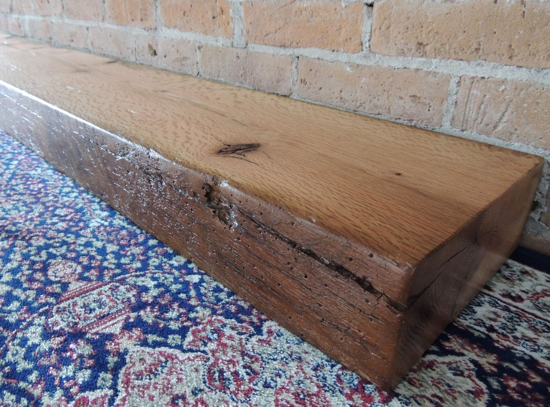 Fireplace Mantel 64 X 10 X 4 Reclaimed Barn Beam Rustic