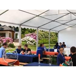 Photo of Xxl 6×12 m carpa para fiestas 2.6 m de altura lateral, lona de PVC 550 g / m², con marco de piso, jardín blanco a prueba de fuego z