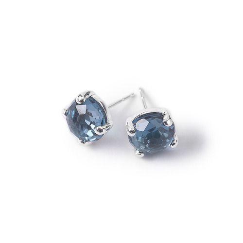 IPPOLITA Rock Candy Sterling Silver Mini Stud Earrings in London Blue Topaz