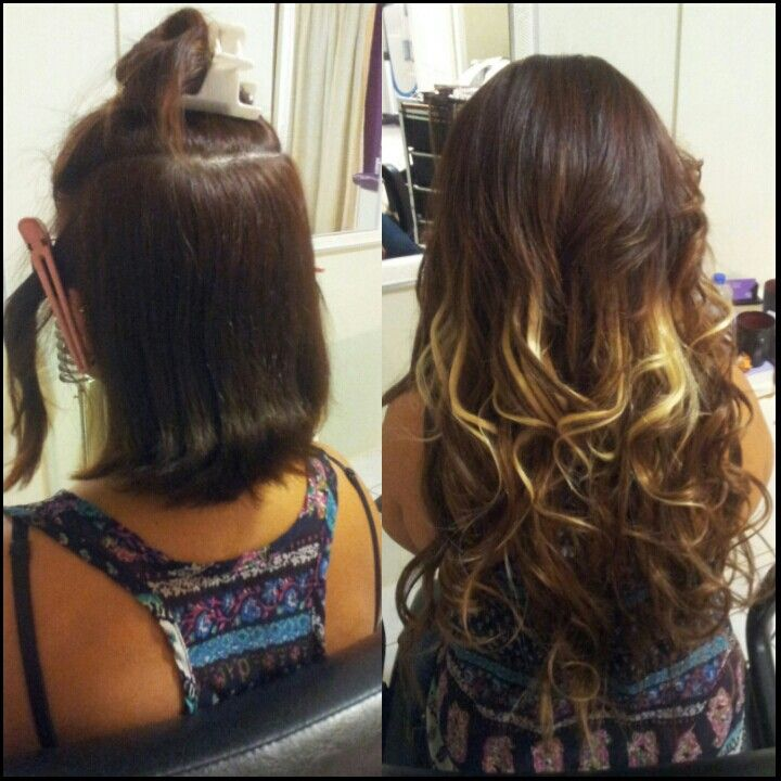 Wow Before After Hair Extensions Length Volume Happiness Used