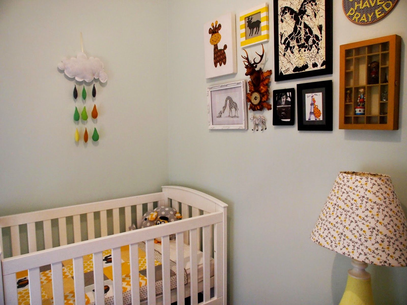 mint green and yellow nursery