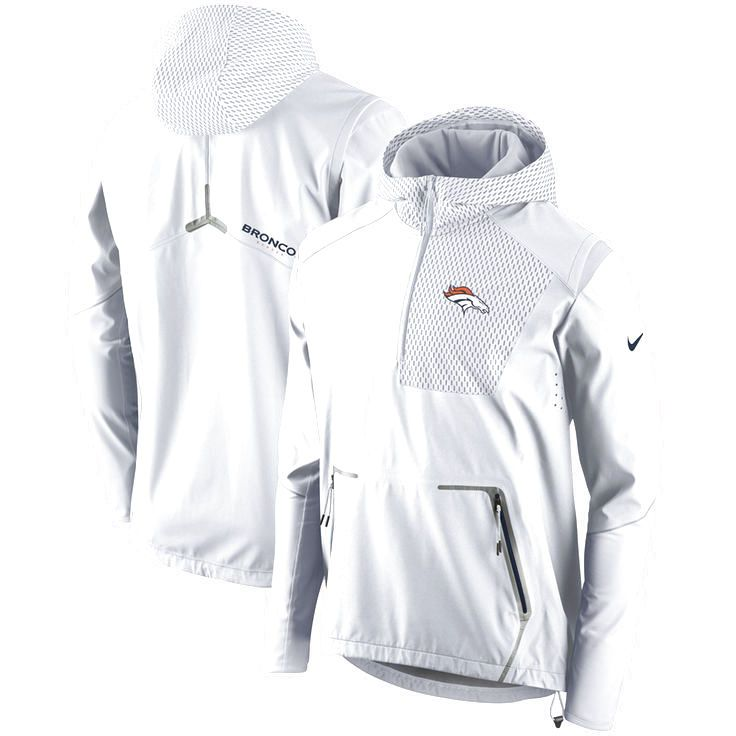 Denver Broncos Nike Champ Drive Vapor Speed Fly Rush Flash Half-Zip Pullover Jacket - White - $299.99