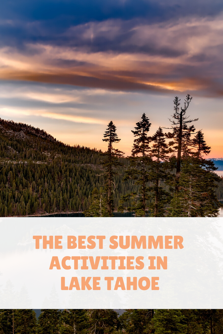 Lake Tahoe is by no means small, and if you are planning a trip here, you may want to put together a few ideas of what to do while you're there. Here are five Lake Tahoe summer activities. #laketahoe