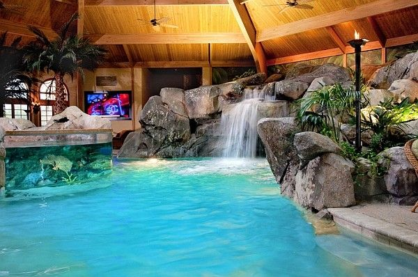 Another look at the indoor tropical paradise Pool Pinterest