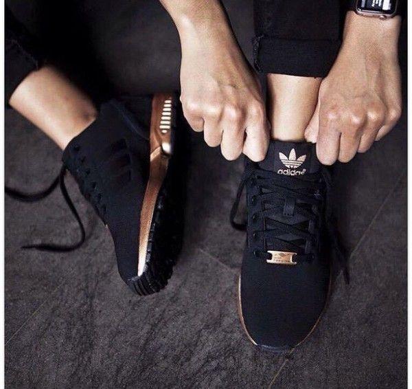 9ea572f430d adidas zx flux adidas black sneakers shoes sneakers low top sneakers adidas  shoes black and gold