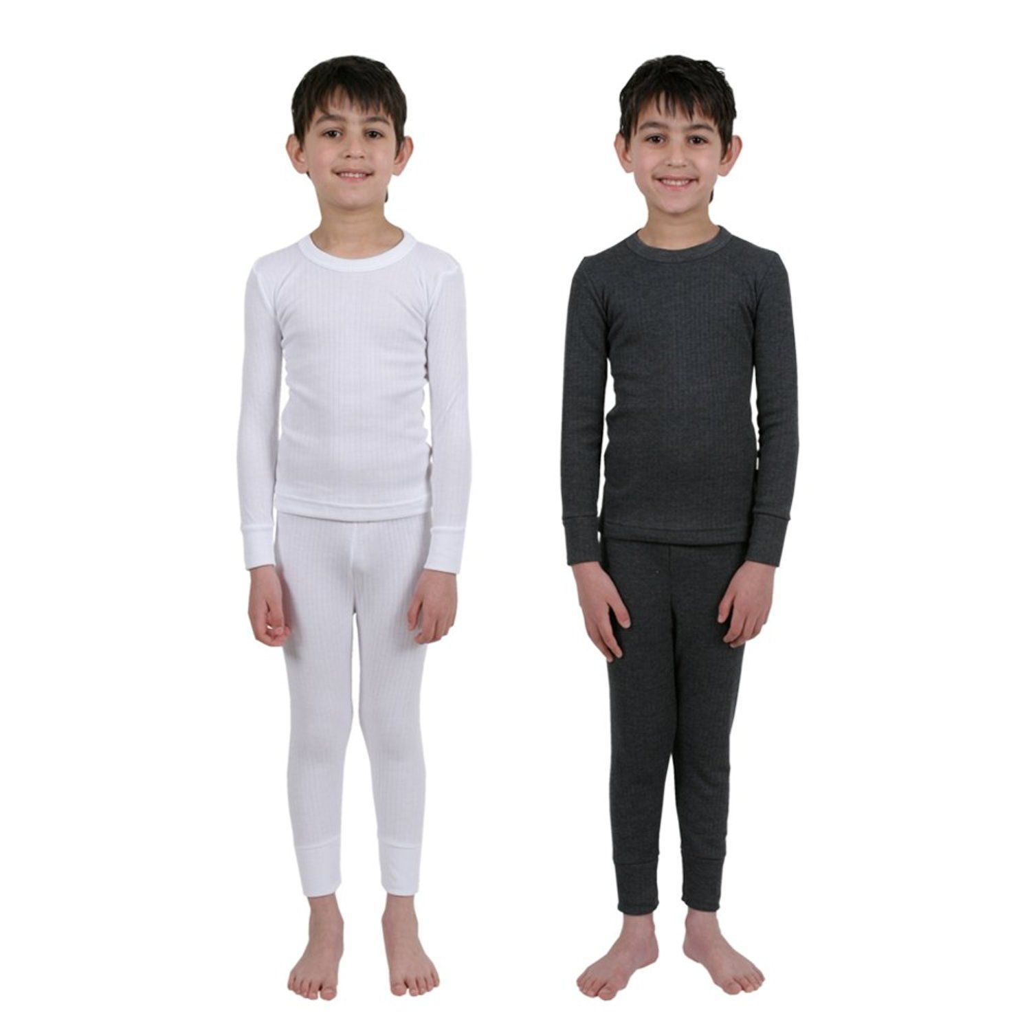 Black  Small 32 Degrees Weatherproof Big Boys Base Layer Thermal Shirt Long Underwear Set