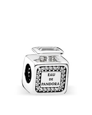 PANDORA Charm - Sterling Silver & Cubic Zirconia Signature Scent, Moments Collection | Bloomingdale's
