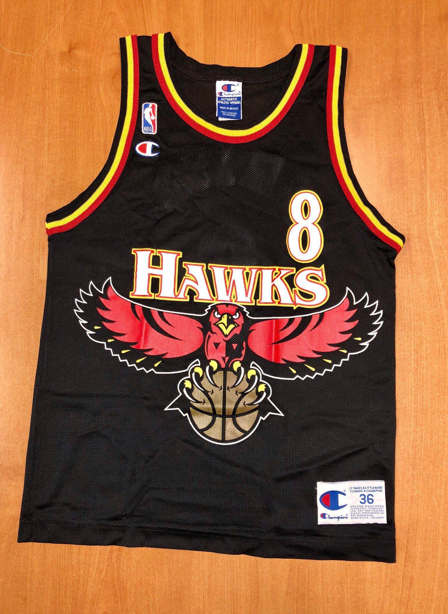 9d5de5705 Vintage 1996 - 1998 Steve Smith Atlanta Hawks Champion Jersey Size 36  dominique wilkins dikembe mutombo christian laettner mookie blaylock by ...