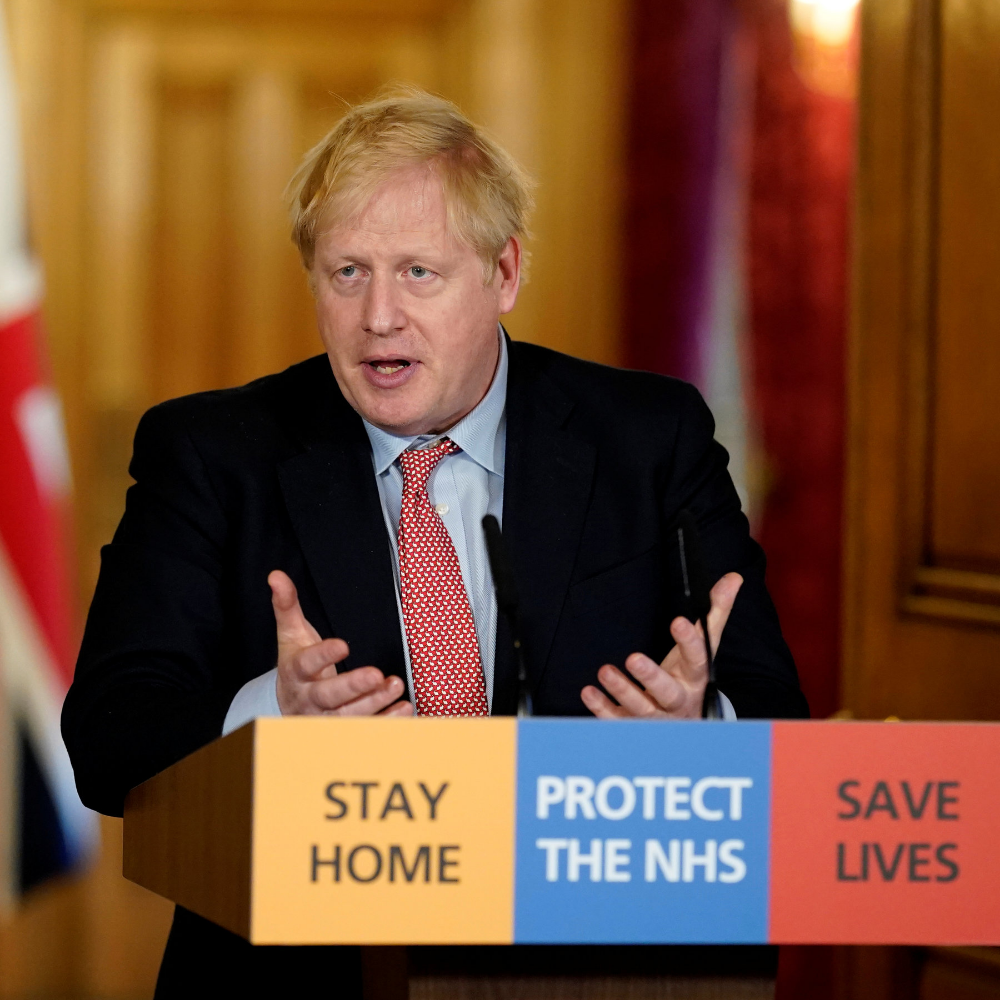 boris johnson lectern save lives Google Search in 2020