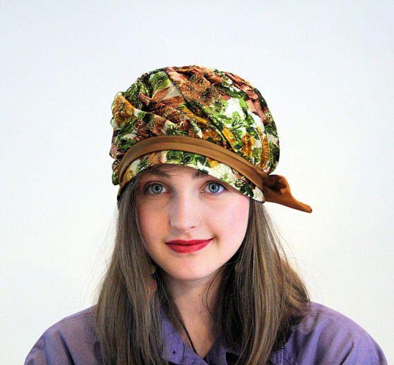 5cf7b185dee Vintage Metallic Floral Hat