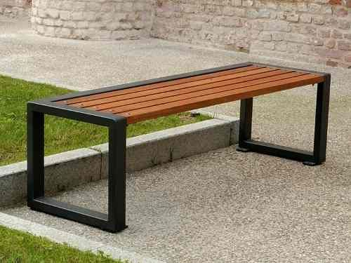 banca madera metal jardin parque decoracion mesa comoda | SITS AND ...