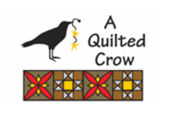 Home Quilted Quilt Batting Crow
