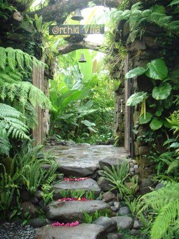Orchid Villa Peace Harmony Nature Tropical Garden Design Balinese Garden Tropical Garden