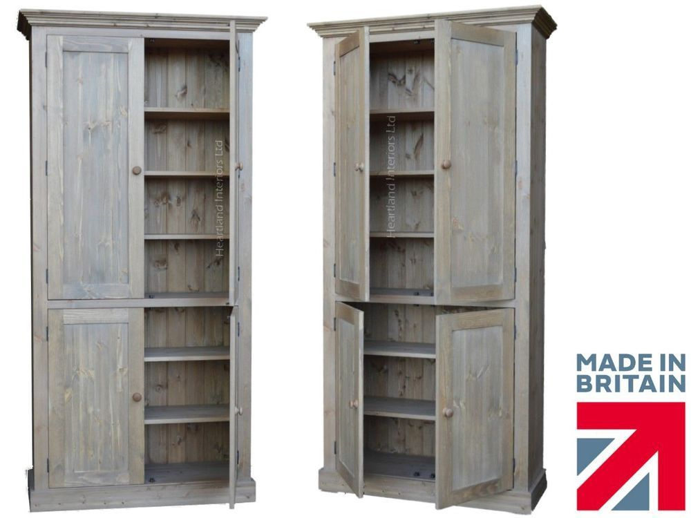 Details About Solid Pine Cupboard 7ft Tall Handcrafted Larder