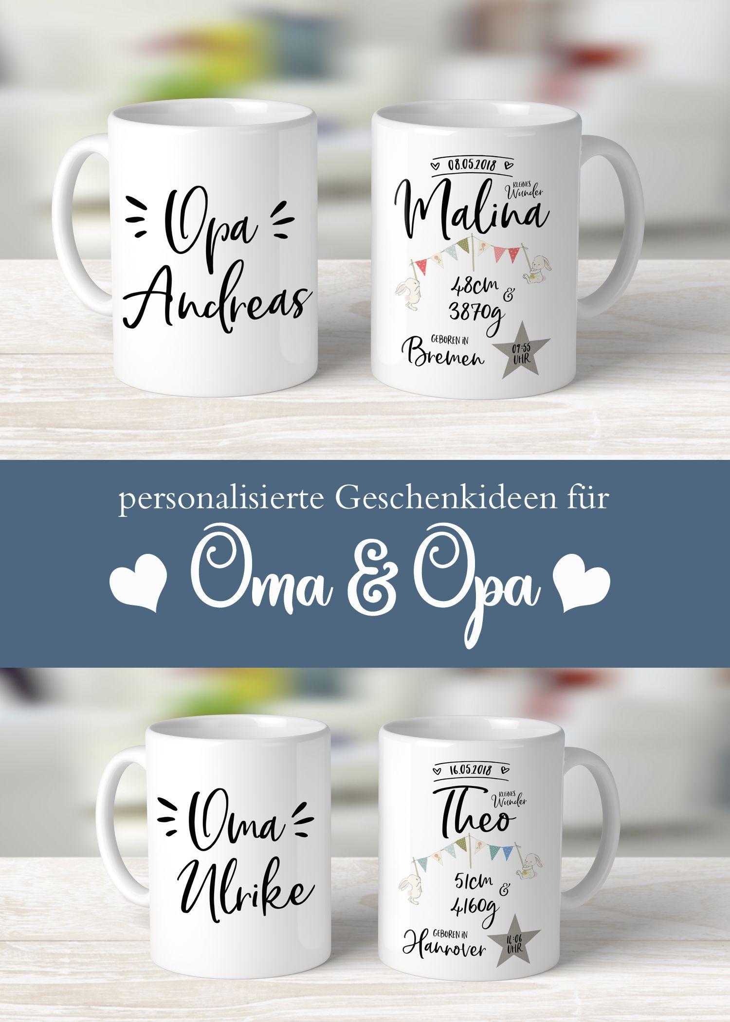 Mug With Birth Dates For Grandpa Geschenkideen Geschenke