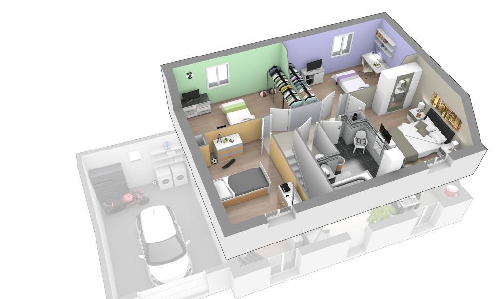 Maison - Jardin Secret - Maisons Axial - 133848 euros - 119 m2 - construire sa maison 3d