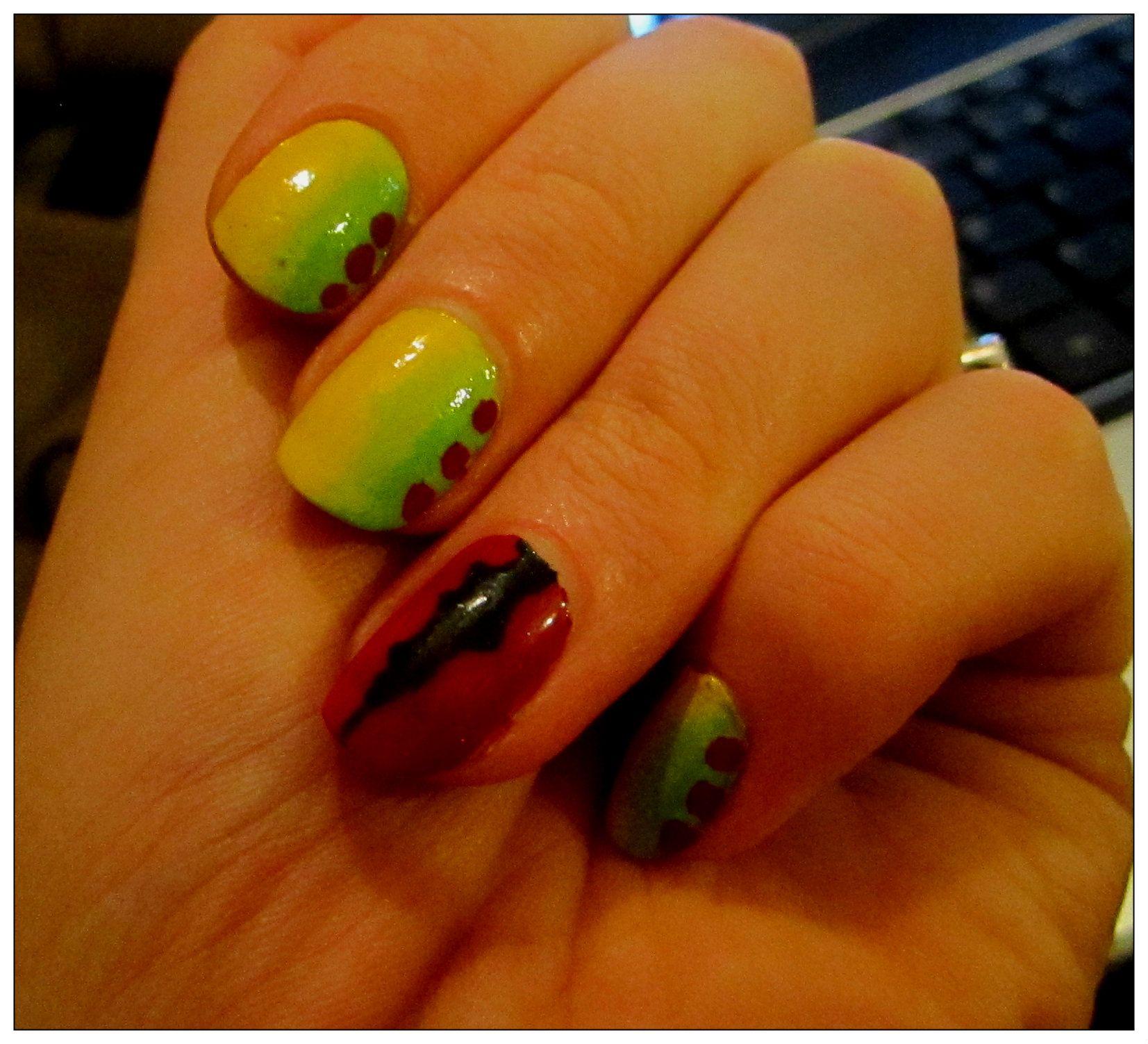 Vaguely Jurassic Park themed nails #nailart #jurassicpark   Nail art ...