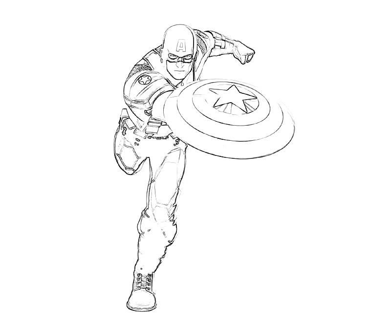 captain america colouring pages google search