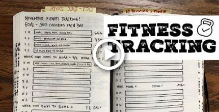 Bullet Journal Basics: Health & Fitness Tracking #fitness