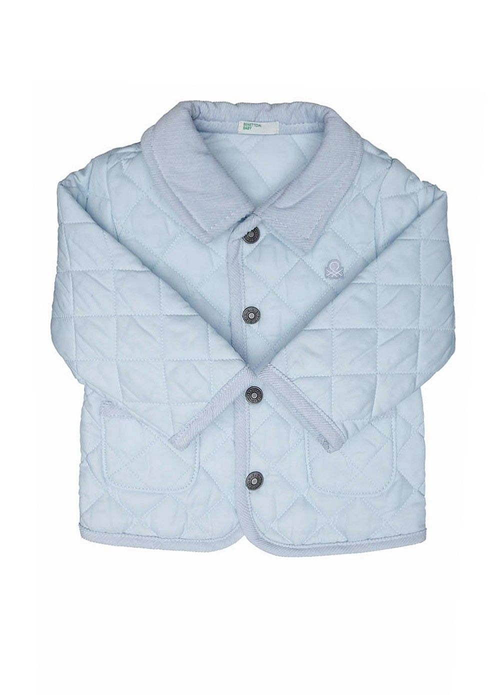01c43da09 Benetton Baby Quilted Jacket With Logo in Light Blue - A firm ...