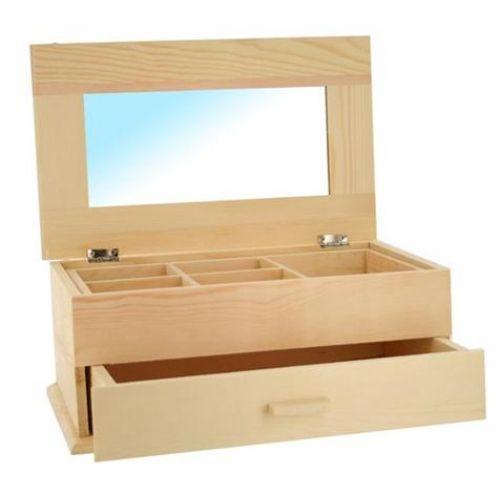 Boite a bijoux en bois loisirs cr atifs boites coffre for Decoration boite a bijoux