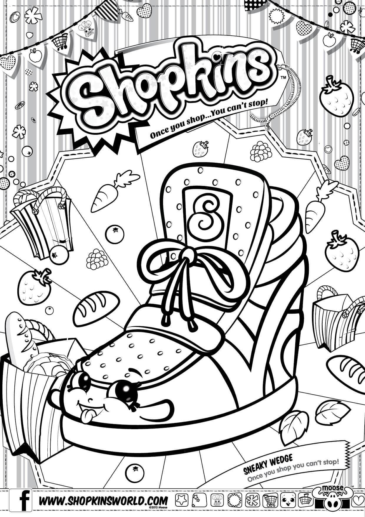 Shopkins Coloring Pages Season 2 Sneaky Wedge Party Shopkins