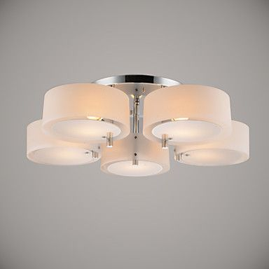 Ecolight Flush Mount Modern Contemporary 5 Lights Ceiling Light