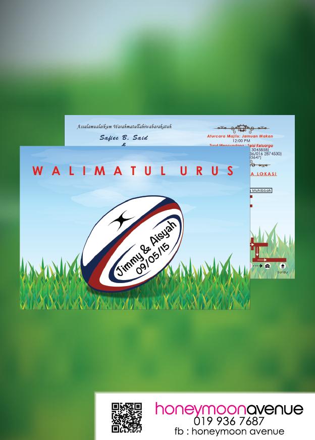 Rugby Theme Wedding Invitation Card Kad Kahwin Kad Kahwin Online Design Kad Kahwin Kad Kahwin Murah Kahwin Kad Jemputan Kahwin Kad Kah Rugby Ambientacion