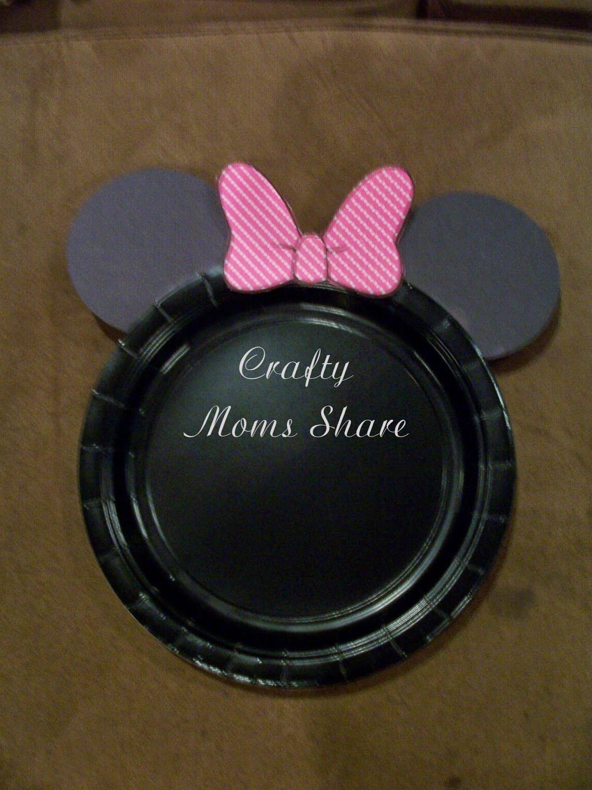 Crafty Moms Share DIY Easy Minnie Mouse and Mickey Mouse Cake Plates \u0026 Free Food & Crafty Moms Share: DIY Easy Minnie Mouse and Mickey Mouse Cake ...