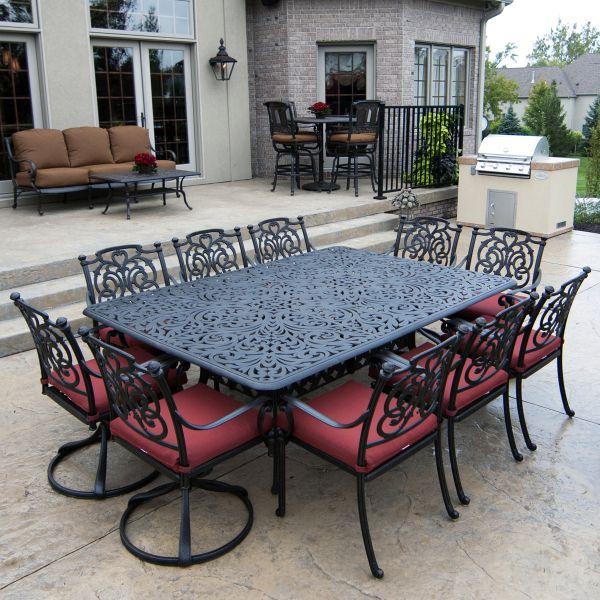 St Augustine Dining Cast Aluminum Patio Furniture Outdoor Dining Furniture Patio Dining Furniture