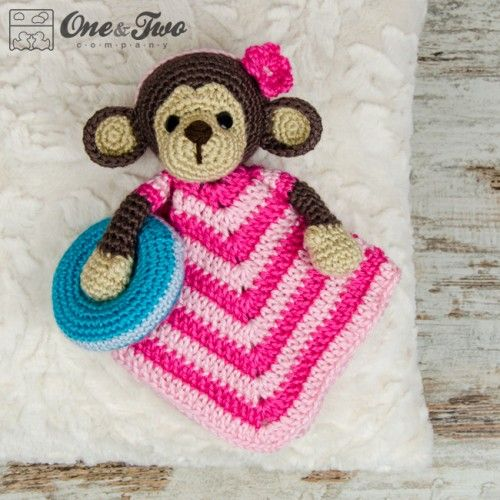 Lily the Baby Monkey Security Blanket Crochet Pattern | Security ...