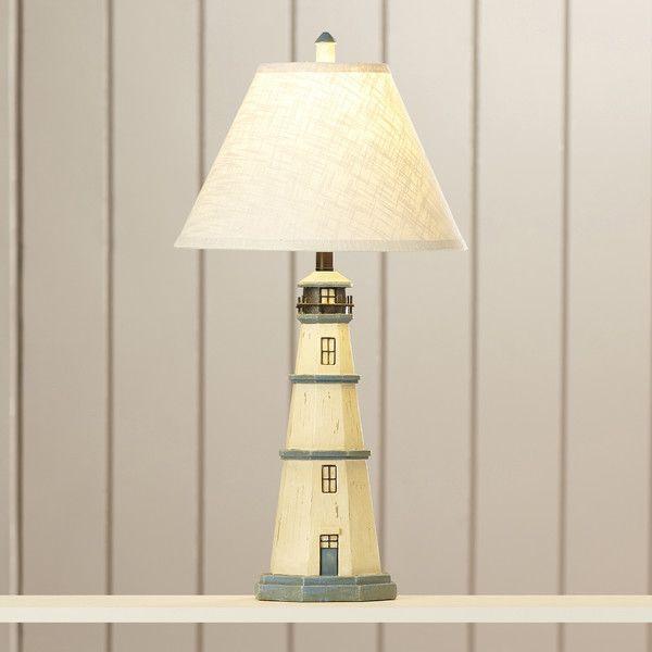 "Nantucket Lighthouse Lamp- 31.5""H w/ 3 way bulb using 50-100-150 w"