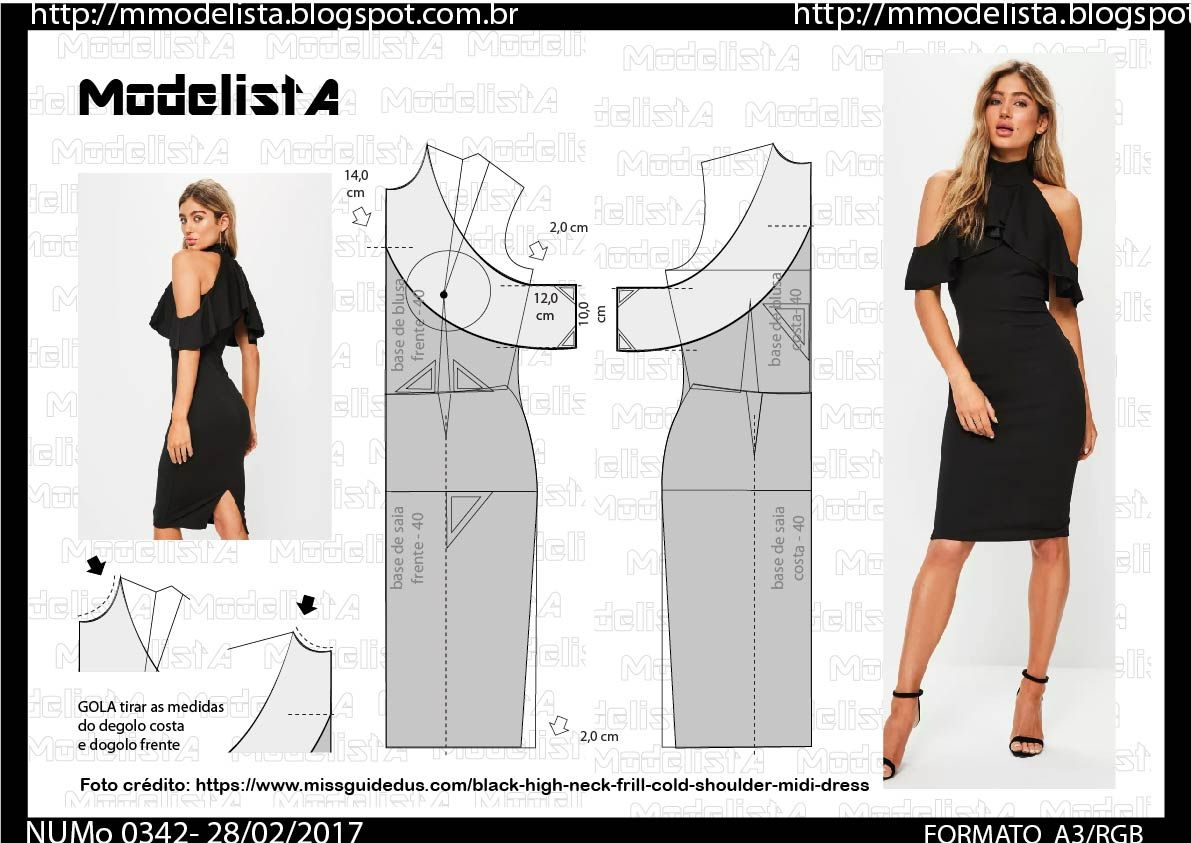 A3 0342 dress patterns sewing patterns and dress patterns a combinao do decote ombro a ombro com o comprimento midi cool e conquistou celebridades dress patternssewing jeuxipadfo Images