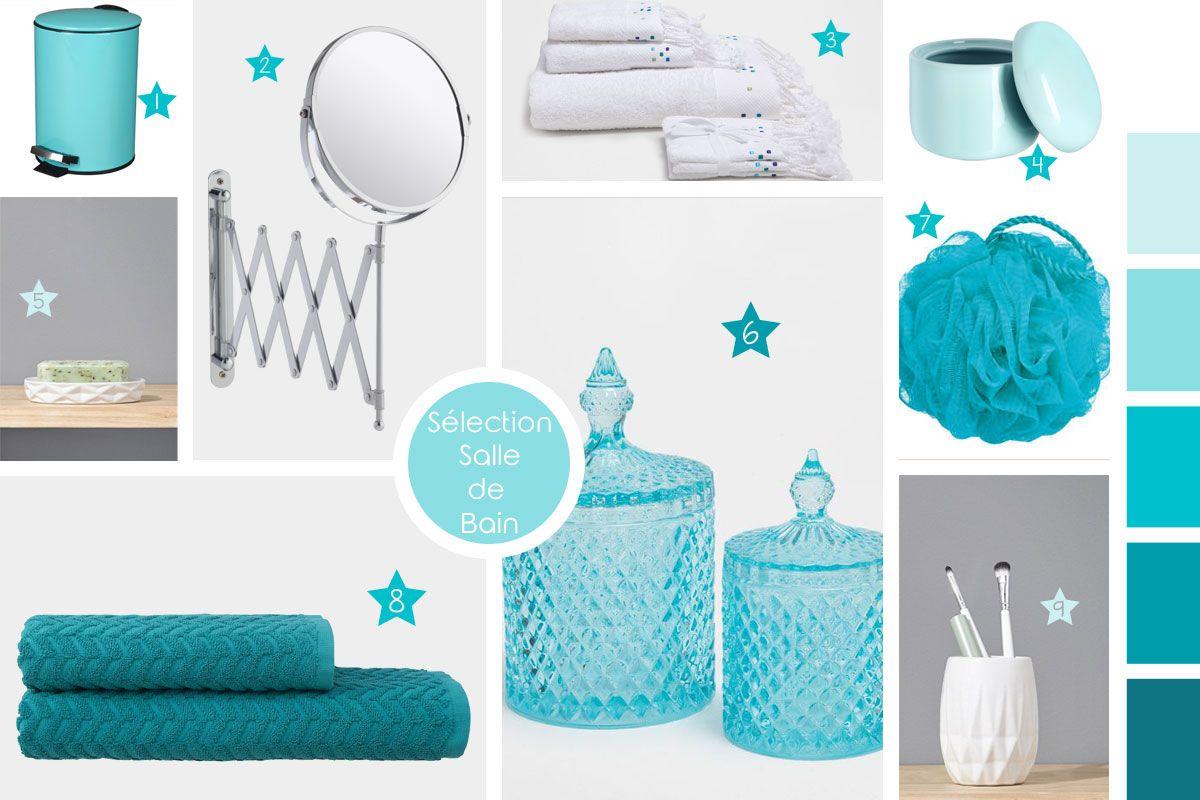 sélection déco salle de bain bleu turquoise | salle de bain ...