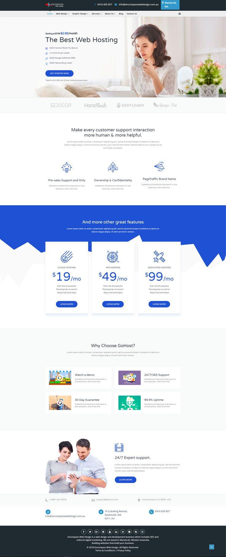 Encompass Web Design Building Websites That Build Your Business Demo Joomla Template Web Design Simple Web Design Web Template Design