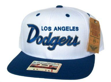 331fa11b53a LOS ANGELES LA DODGERS Script Retro Snapback Hat - MLB Cap - Original TAG -  2 Tone White Blue  Amazon.co.uk  Sports   Outdoors
