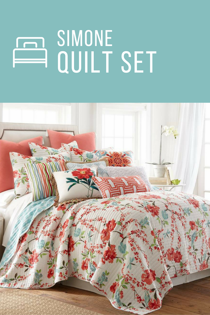 picturesque better homes and gardens quilts. Simone Quilt Set by Levtex Home is 100  Cotton It available in