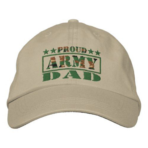 Proud Army Dad Embroidered Hat (Khaki)  bd86d801331