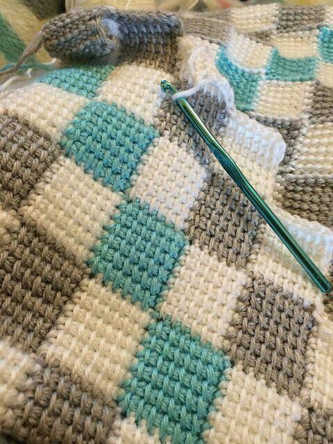 Cobre Leito Szydelko Pinterest Crochet Tunisian Crochet And