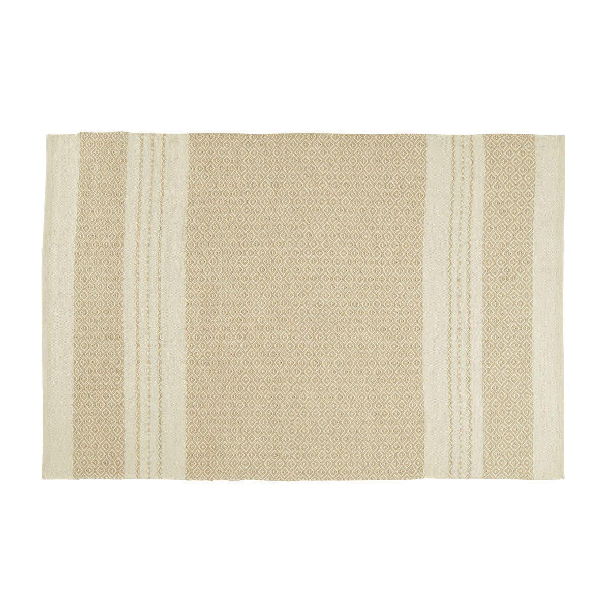 Alfombra blanco/beige White 140x200