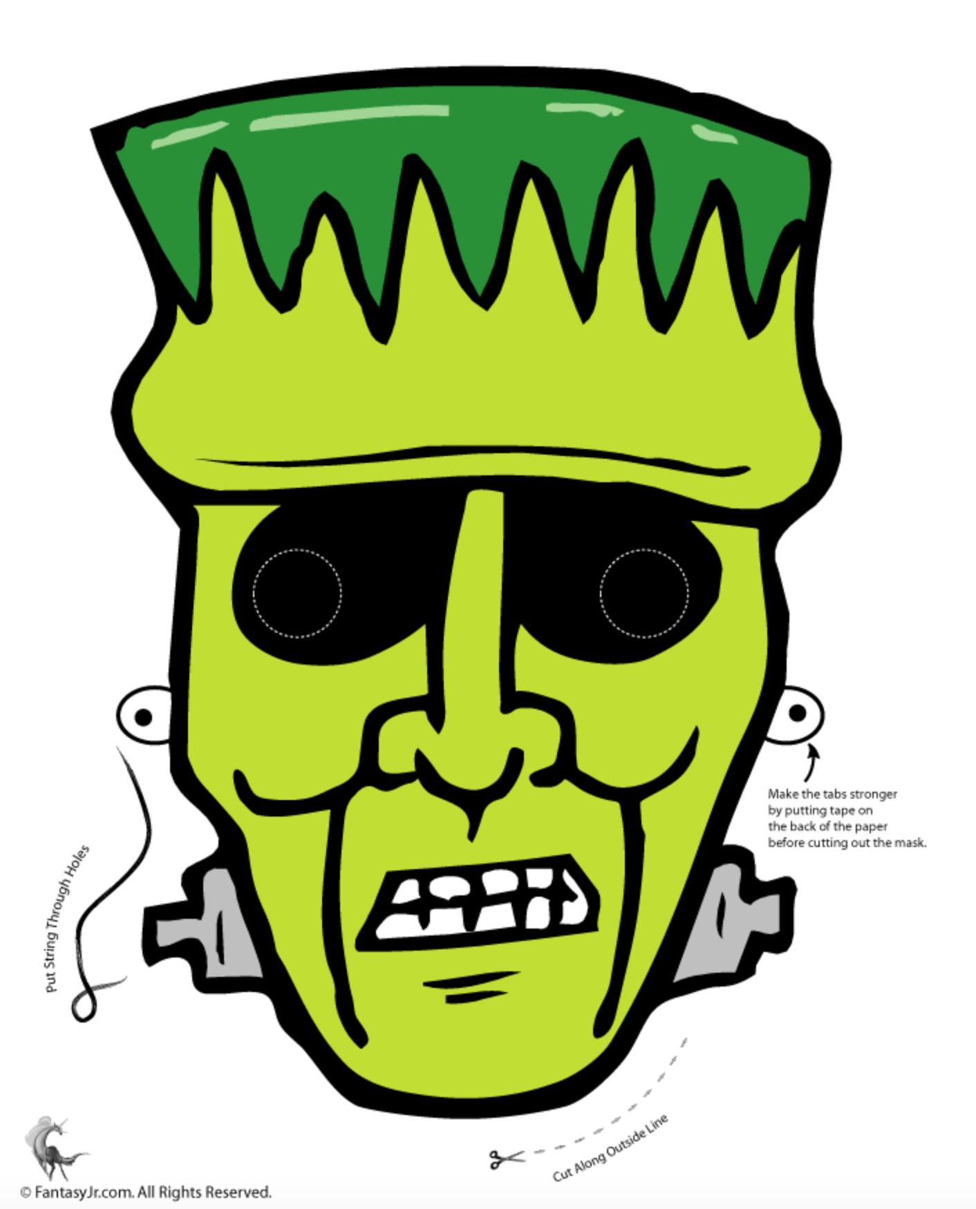Contemporáneo Imágenes De Frankenstein Para Colorear Bandera ...