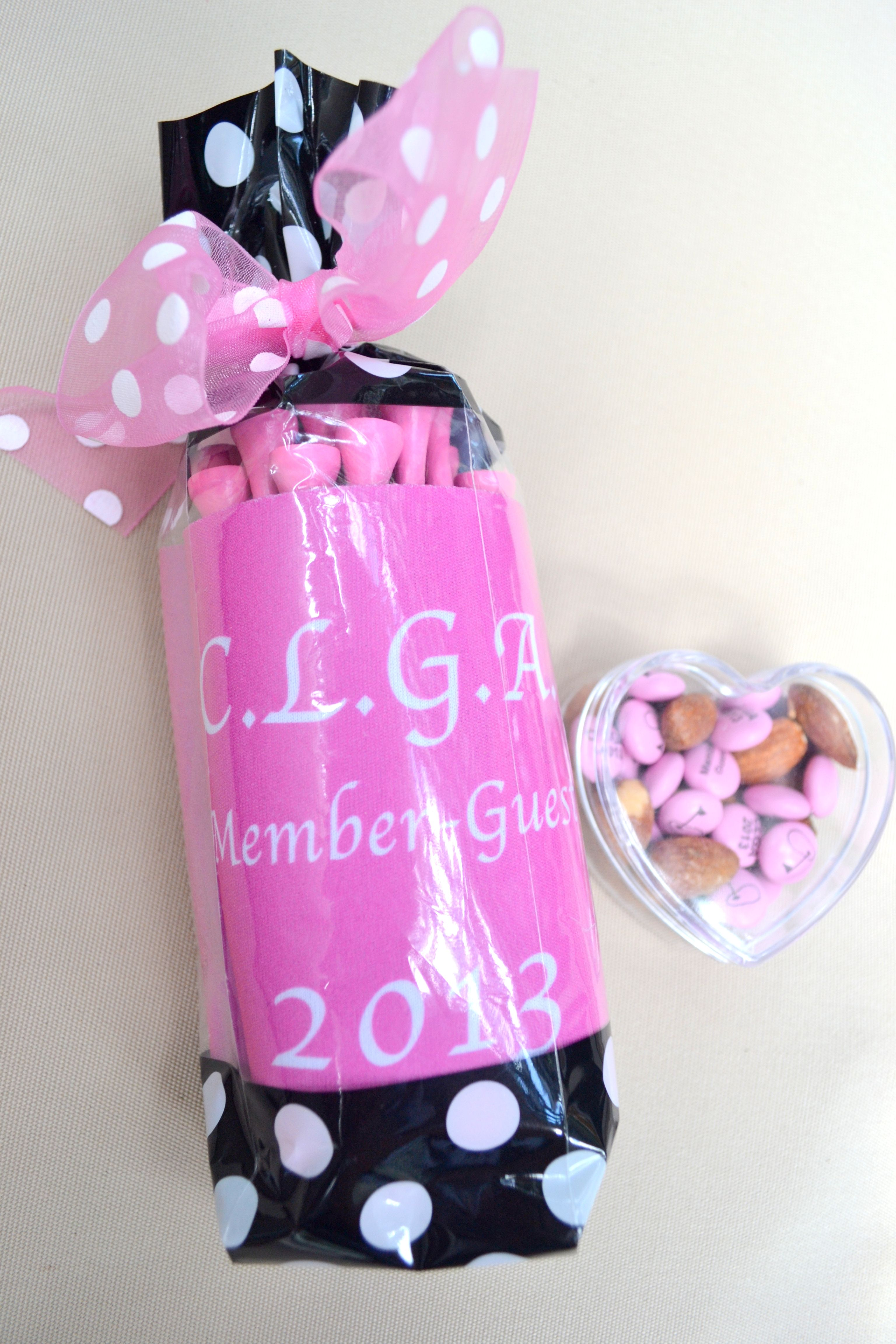 Ladies Golf Tournament Favors. Personalized Koozie filled with tees ...