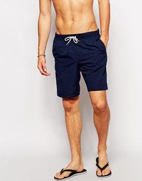 aa183fa07b ASOS Swim Shorts In Long Length | Men's fashion | Mens swim shorts ...