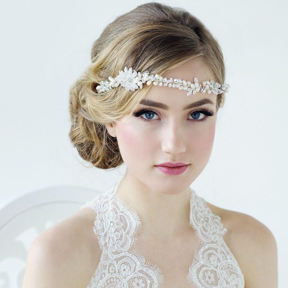 Crystal & Pearl Hair Vine | wedding hair | Pinterest | Hair vine