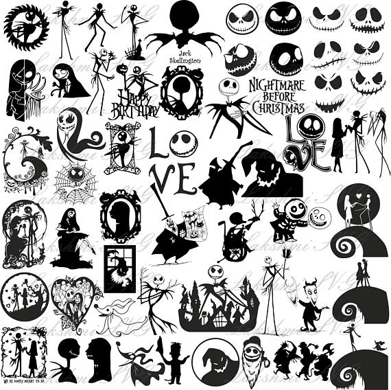 Upload svg to design software. 57 Nightmare Before Christmas Silhouette Svg Files For Cricut Eps Dxf Png Jack Skellington Silhouette Christmas Nightmare Before Christmas Jack Skellington