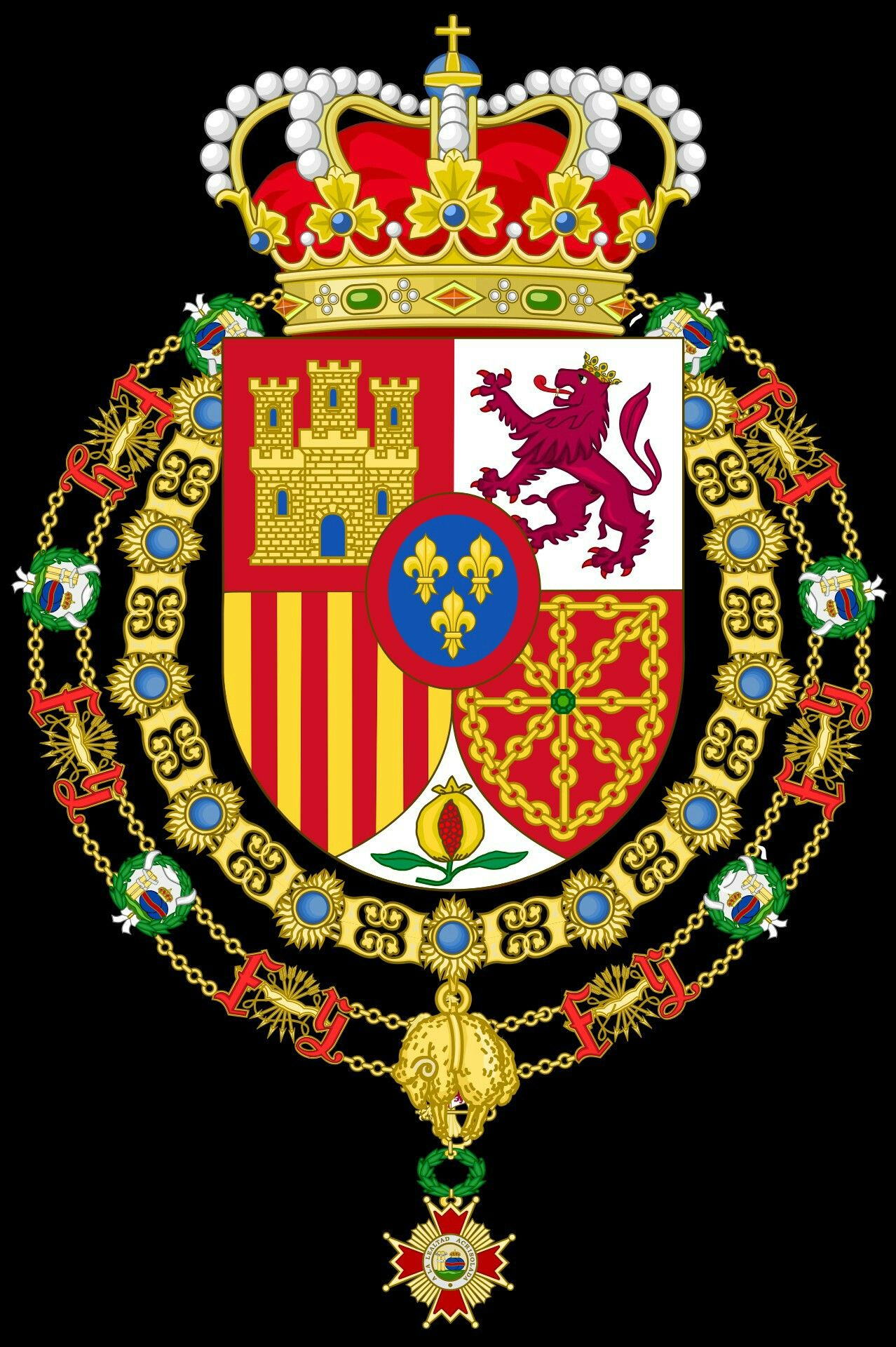 Gran Master De La Orden De Isabel L Catolica Coat Of Arms Heraldry Spanish Royal Family